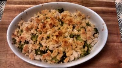 Crumble de brocoli con pollo