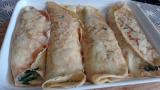Crepes de pollo y espinacas