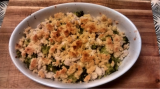 Crumble de brocoli con pollo